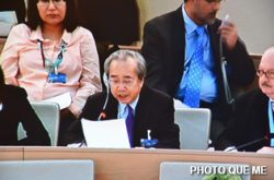 Vo Van Ai speaking at the UN Human Rights Council, 8 March 2013 - Photo QUE ME LHQ ở Genève – Photo Quê Mẹ