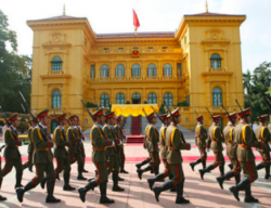 Presidential Palace, Hanoi. Photo by Paul Morse, released to public domain.