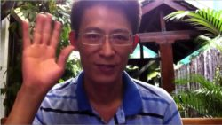 A screen grab from a Sept. 2013 video of Nguyen Lan Thang speaking about social media controls in Vietnam.