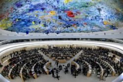 The 22nd session of the U.N. Human Rights Council meets in Geneva on Feb. 25, 2013.  AFP