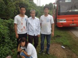 Mr. Khiem and his two sons who were brutally beaten by Nghe An police