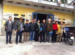 Mr. Kim (fifth from right) and visiting activists earlier this year