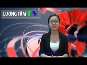 Reporter Le Yen at one of Luong Tam TV broadcast