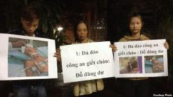 Mother and relatives of 17-year-old Du blame Hanoi police for his death