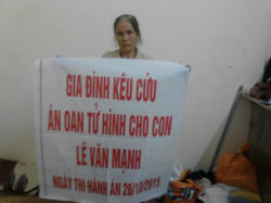 Nguyen Thi Viet, mother of Le Van Manh calls for his release