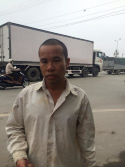 Mr. Tam after being kidnapped, beaten and robbed on Jan 9, 2016