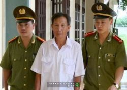 Mr. Dinh Tat Thang on the day of arrest in August last year