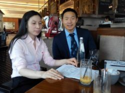 Mrs. Tran Thi Hong at a meeting with U.S. diplomat in Saigon on Mar 7 to report ongoing police harassment against her family