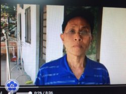Mr. Nguyen Van Phuong three days after being released (Photo taken from video interview)