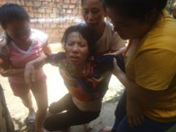 Mrs. Hong was severely beaten by Hoa Lu ward police on April 14