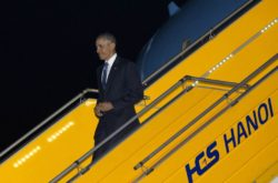 President Barack Obama arrived in Hanoi in mid night of May 22 for three-day state visit to Vietnam