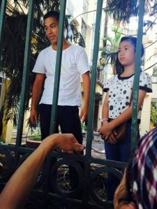 Trinh ba Tu and Doan Truong Anh Thu detained in police station on June 13, 2016