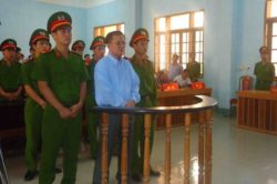 Protestant pastor Nguyen Cong Chinh at trial for allegation under Article 87 of the Penal Code