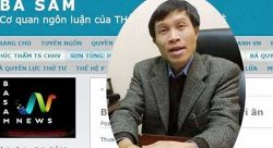 Blogger Nguyen Huu Vinh and his Anh Ba Sam news website