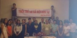 Participants of a workshop on civil society in Vung Tau on Oct 8 before being suppressed by local police