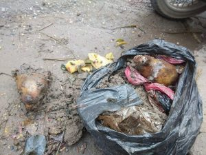 Dirty mess collected from blogger Nguyen Tuong Thuy's house after the attack